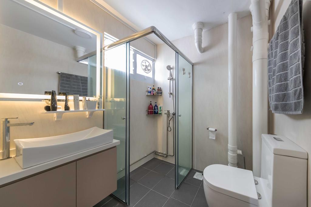 Modern, HDB, Bathroom, Spottiswoode Park Road, Interior Designer, Swiss Interior Design, Contemporary