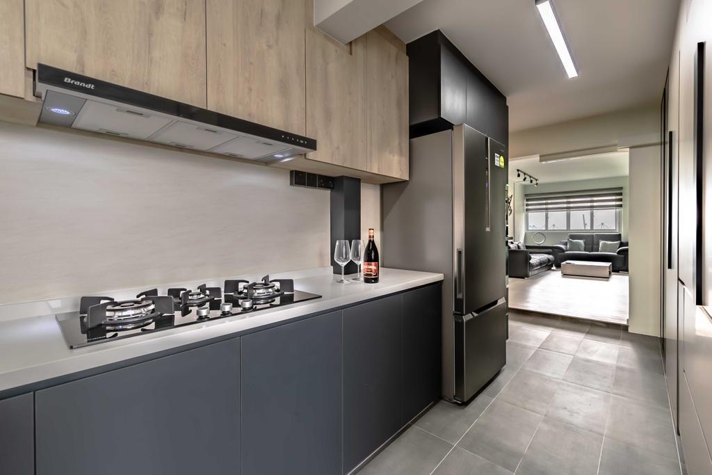 Modern, HDB, Kitchen, Spottiswoode Park Road, Interior Designer, Swiss Interior Design, Contemporary