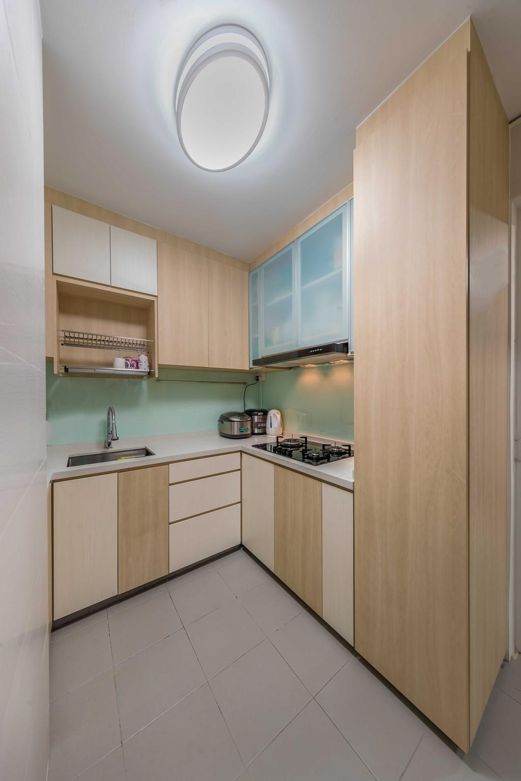 Contemporary, HDB, Kitchen, Punggol Field, Interior Designer, Swiss Interior Design