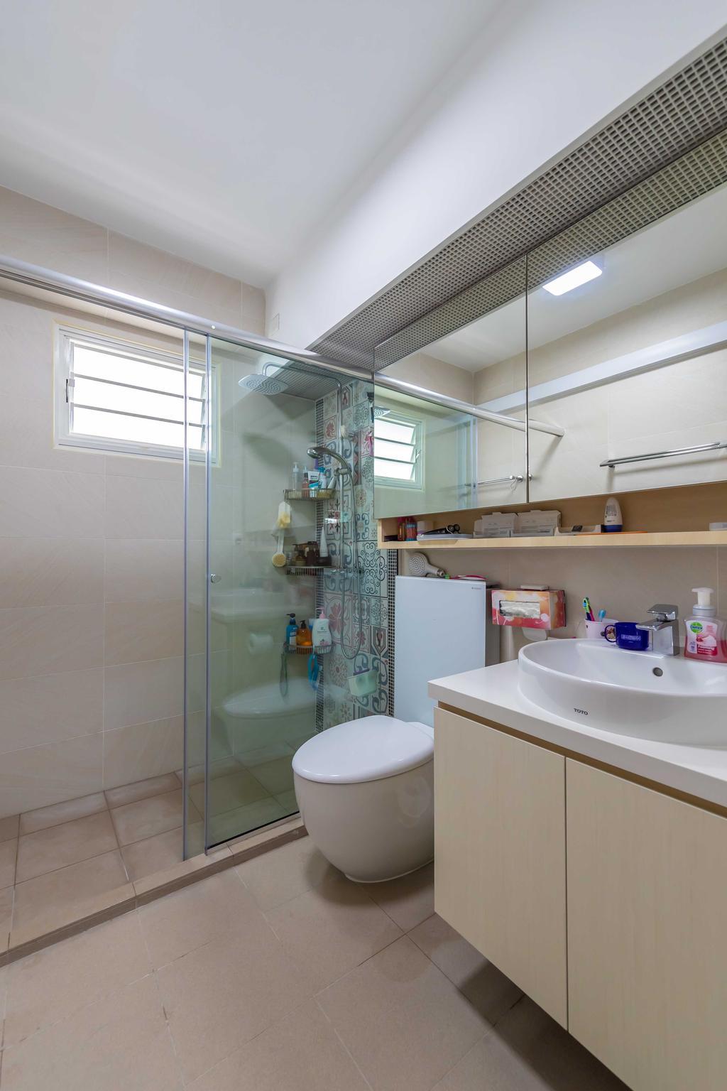 Contemporary, HDB, Bathroom, Punggol Field, Interior Designer, Swiss Interior Design