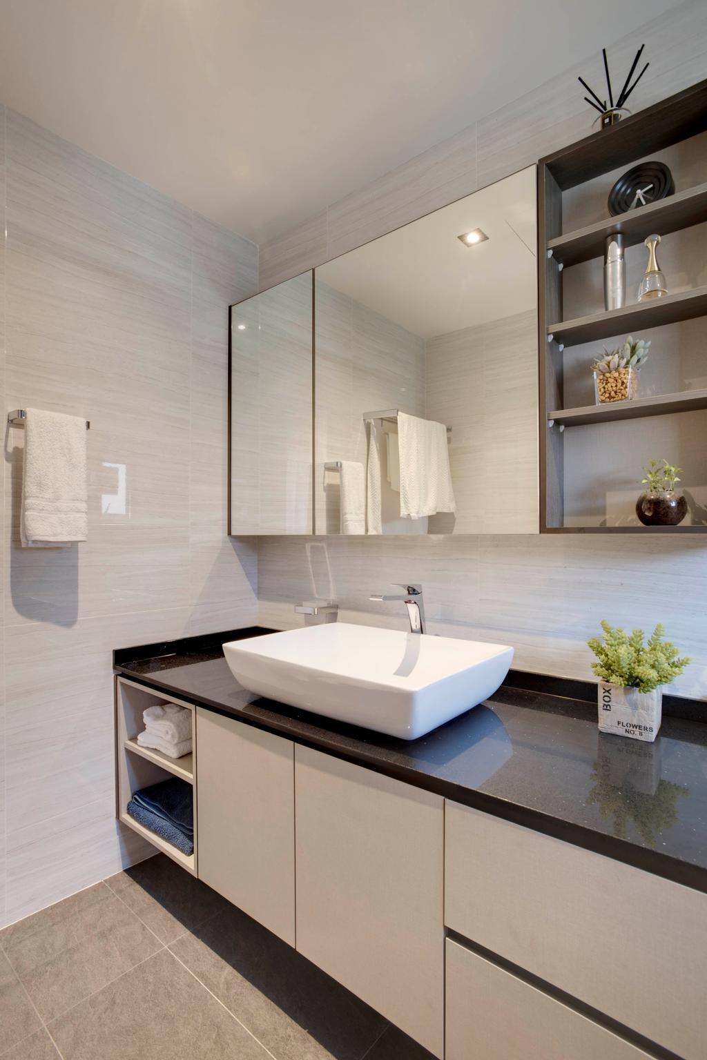 Scandinavian, Landed, Bathroom, Chempaka Kuning Link, Interior Designer, Juz Interior