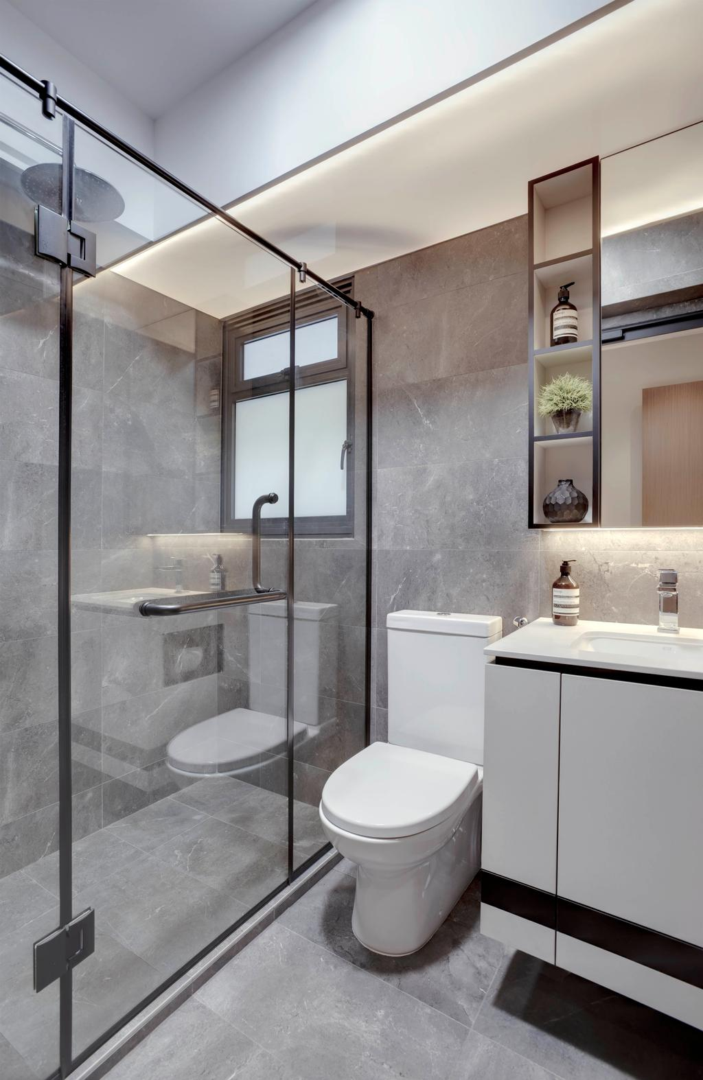 Contemporary, HDB, Bathroom, Alkaff Crescent, Interior Designer, Juz Interior, Scandinavian