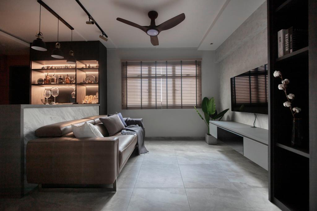 Contemporary, HDB, Living Room, Boon Tiong Road, Interior Designer, Starry Homestead