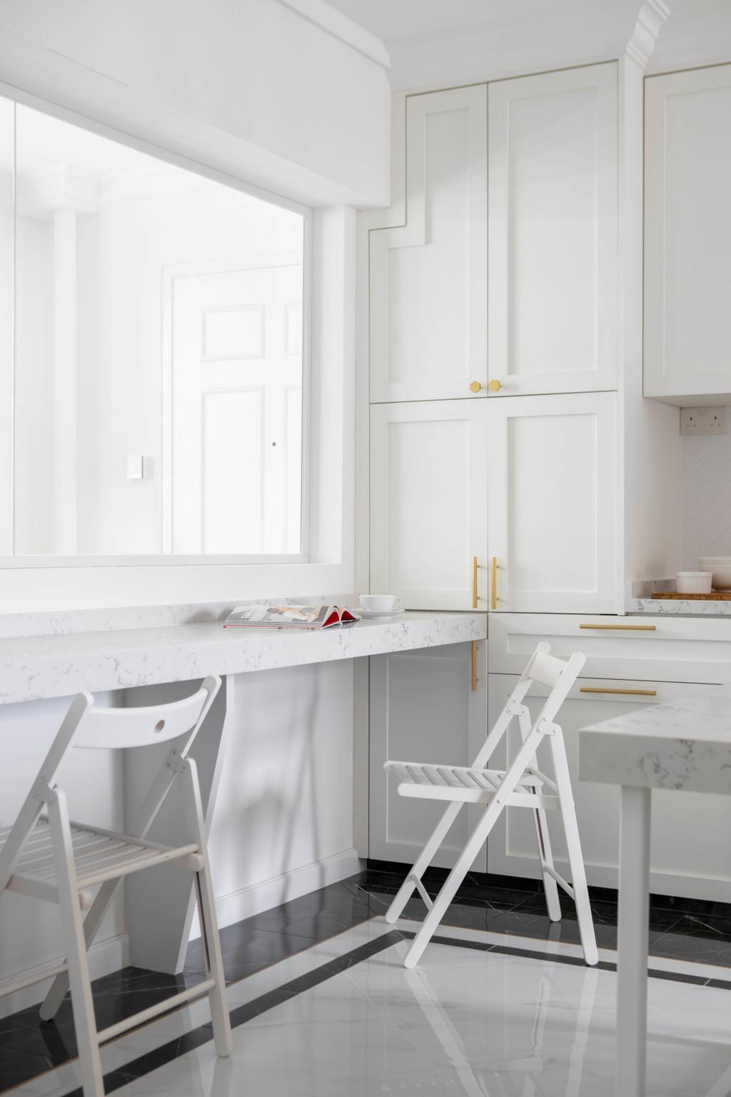 Contemporary, HDB, Kitchen, Tampines Avenue 7, Interior Designer, Fifth Avenue Interior, Transitional