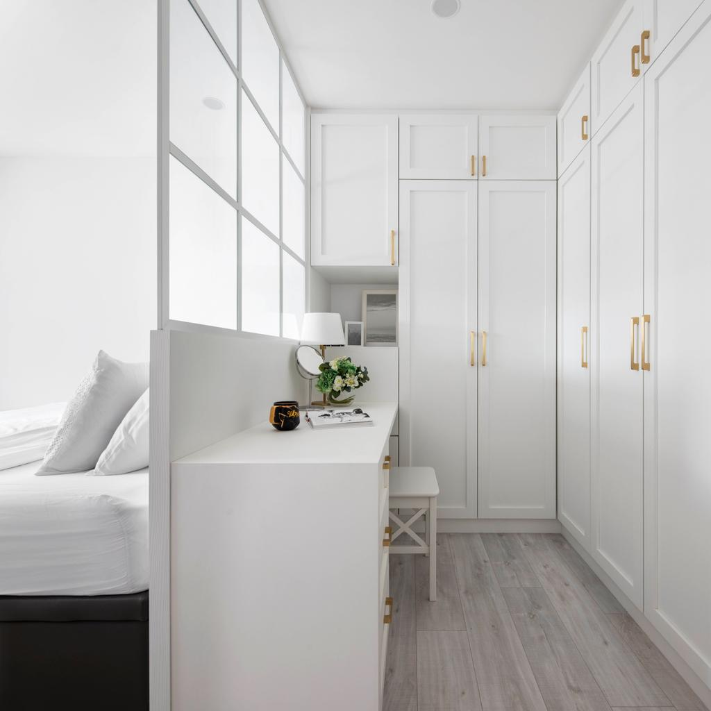 Contemporary, HDB, Bedroom, Tampines Avenue 7, Interior Designer, Fifth Avenue Interior, Transitional, Wardrobe, Vanity, Dresser