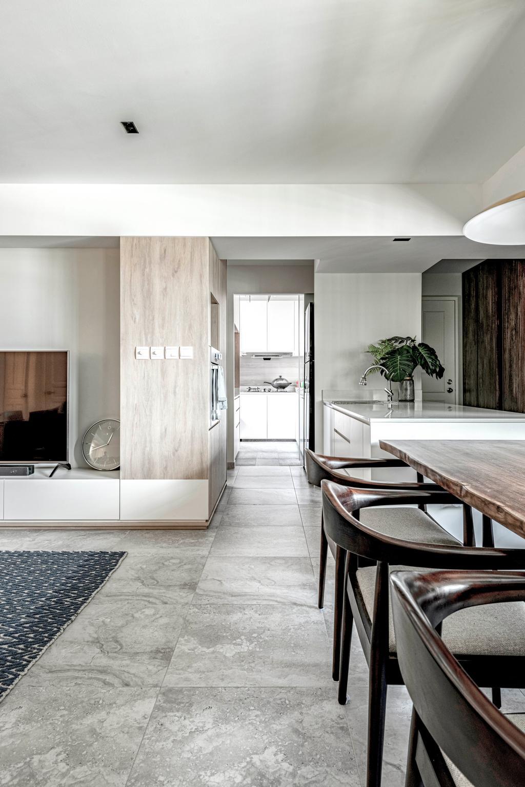 Scandinavian, HDB, Dining Room, Serangoon North Avenue 4, Interior Designer, erstudio