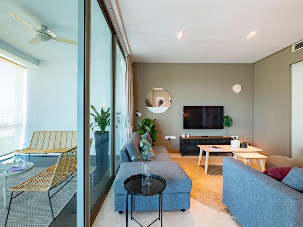 Scandinavian, Condo, Living Room, Lush on Holland Hill, Interior Designer, Hmlet Interiors