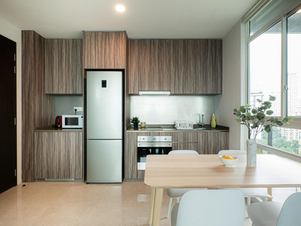 Scandinavian, Condo, Kitchen, Principal Garden, Interior Designer, Hmlet Interiors, Contemporary