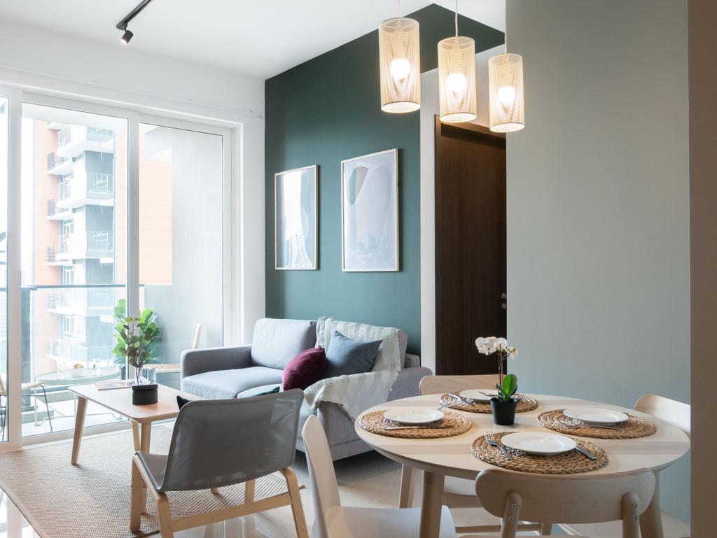 Scandinavian, Condo, Dining Room, Principal Garden, Interior Designer, Hmlet Interiors, Contemporary