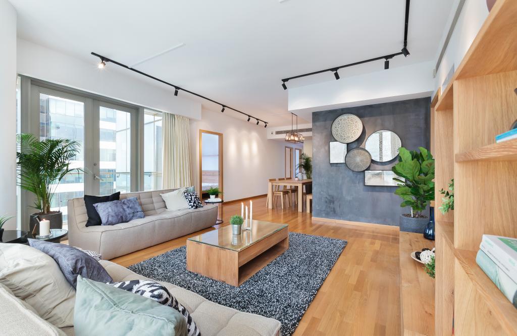 Scandinavian, Condo, Living Room, One Shenton, Interior Designer, Hmlet Interiors, Contemporary