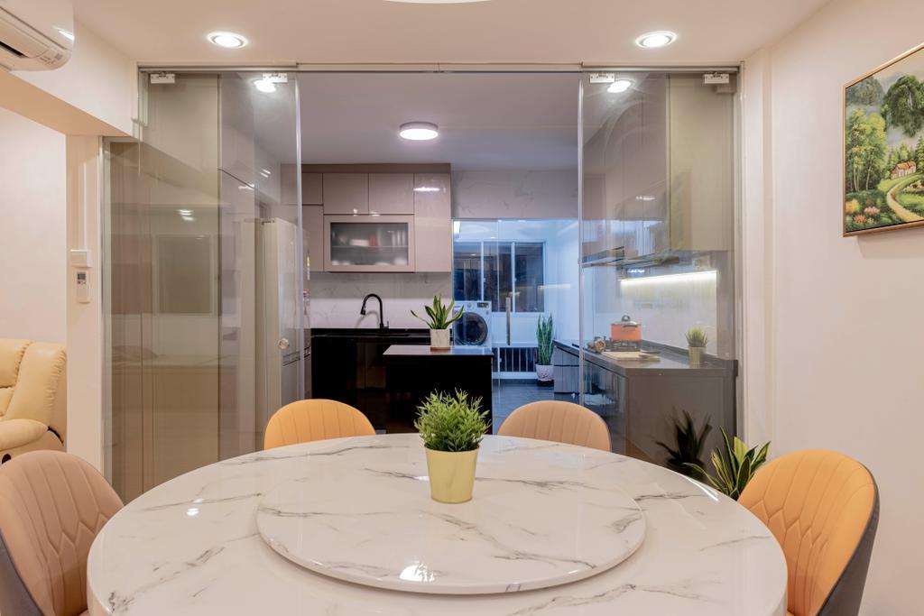 Contemporary, HDB, Dining Room, Choa Chu Kang Street 51, Interior Designer, Renologist