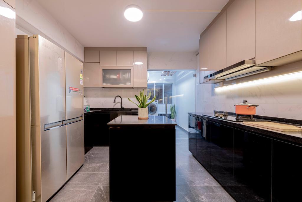 Contemporary, HDB, Kitchen, Choa Chu Kang Street 51, Interior Designer, Renologist