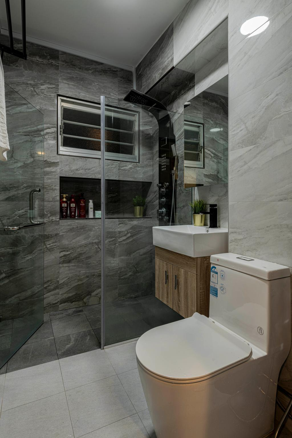 Contemporary, HDB, Bathroom, Choa Chu Kang Street 51, Interior Designer, Renologist