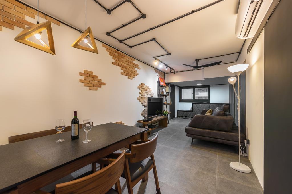 Industrial, HDB, Telok Blangah Heights, Interior Designer, Swiss Interior Design, Modern
