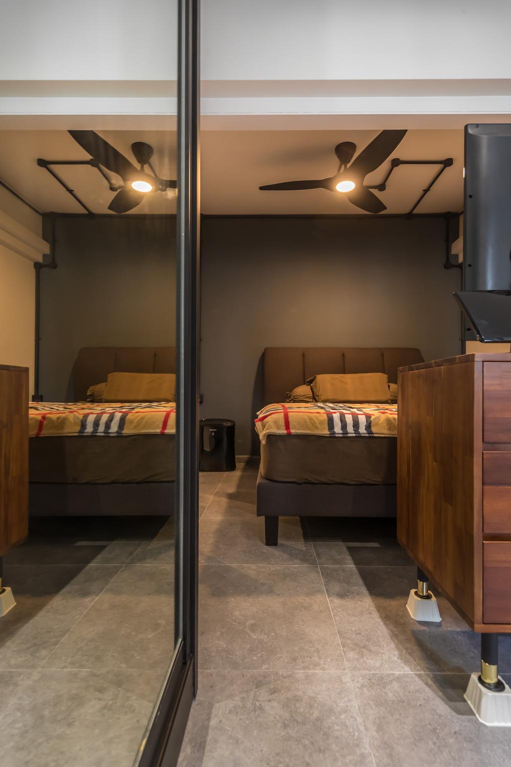 Industrial, HDB, Bedroom, Telok Blangah Heights, Interior Designer, Swiss Interior Design, Modern