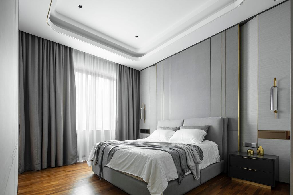 Modern, Landed, Bedroom, The Modern Grandeur - Tiara Hills, Cheras, Interior Designer, Box Design Studio Sdn Bhd, Contemporary