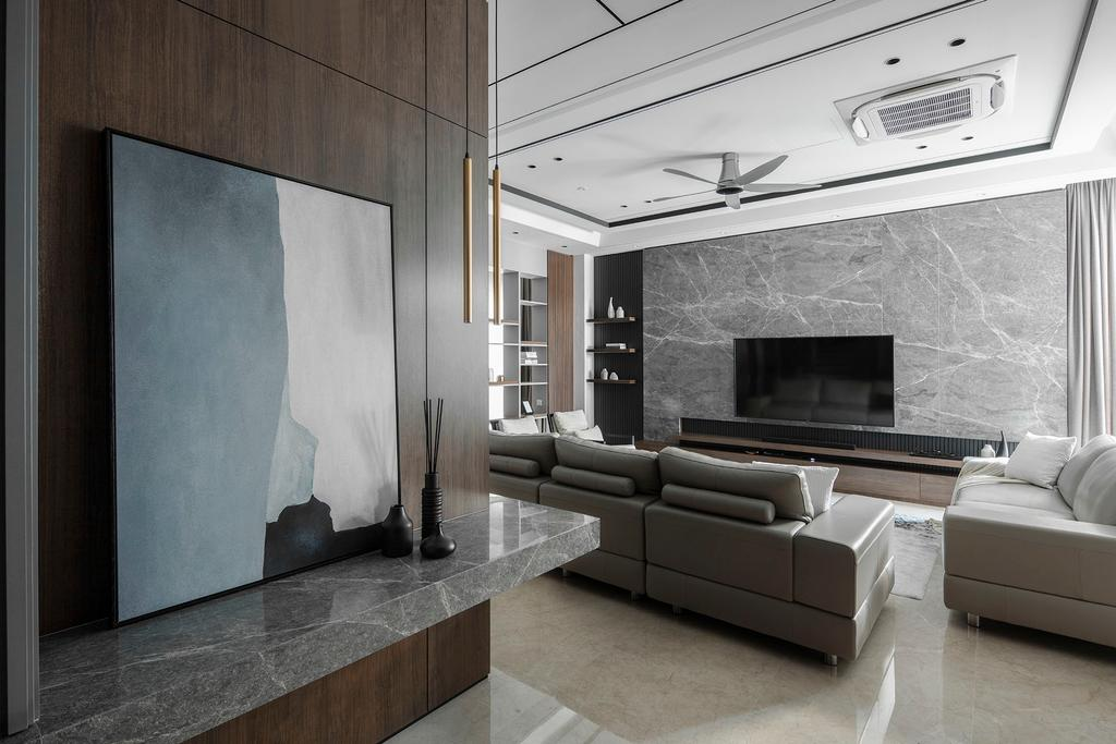 Modern, Landed, The Modern Grandeur - Tiara Hills, Cheras, Interior Designer, Box Design Studio Sdn Bhd, Contemporary