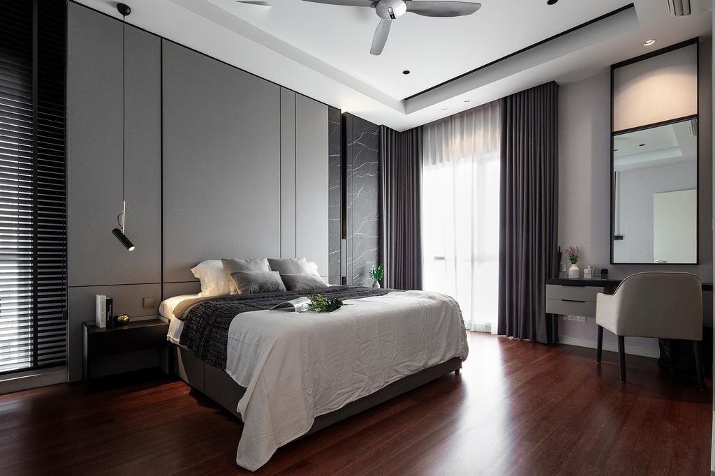 Modern, Condo, Bedroom, Pavilion Hilltop, Mont Kiara, Interior Designer, Box Design Studio Sdn Bhd, Contemporary