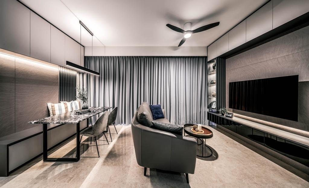 Contemporary, Condo, Living Room, Botanique at Bartley, Interior Designer, Weiken.com