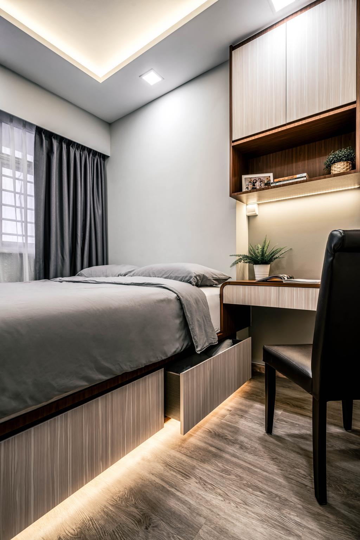 Contemporary, HDB, Bedroom, Tampines North Drive 1, Interior Designer, Weiken.com