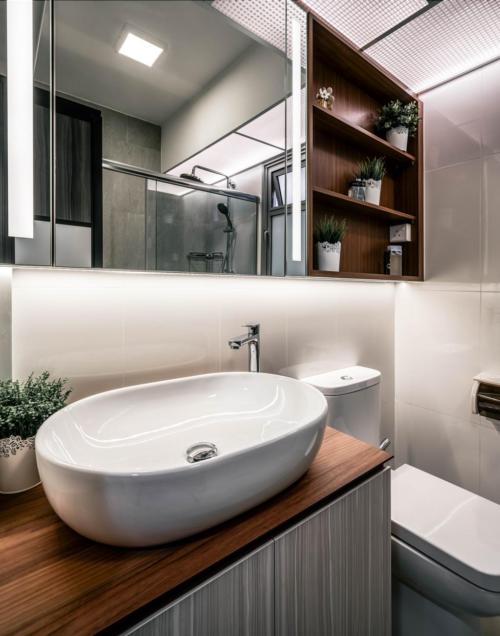 Contemporary, HDB, Bathroom, Tampines North Drive 1, Interior Designer, Weiken.com