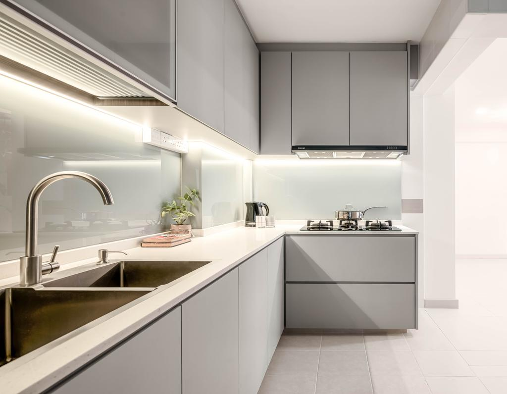 Contemporary, HDB, Kitchen, Yishun Avenue 1, Interior Designer, Weiken.com