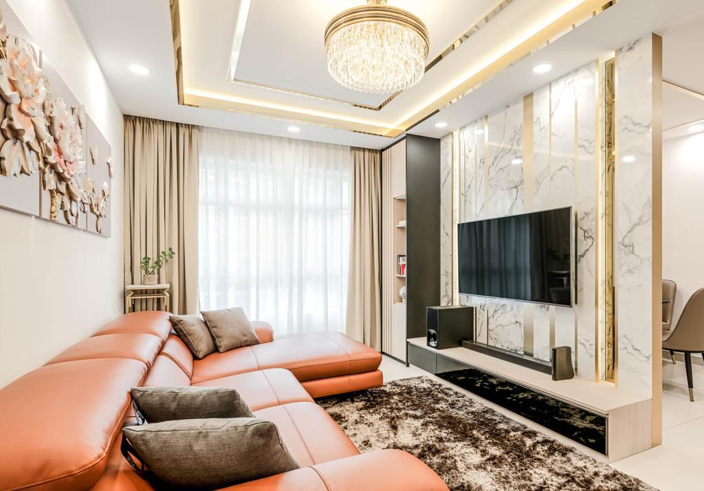 Contemporary, HDB, Living Room, Yishun Avenue 1, Interior Designer, Weiken.com