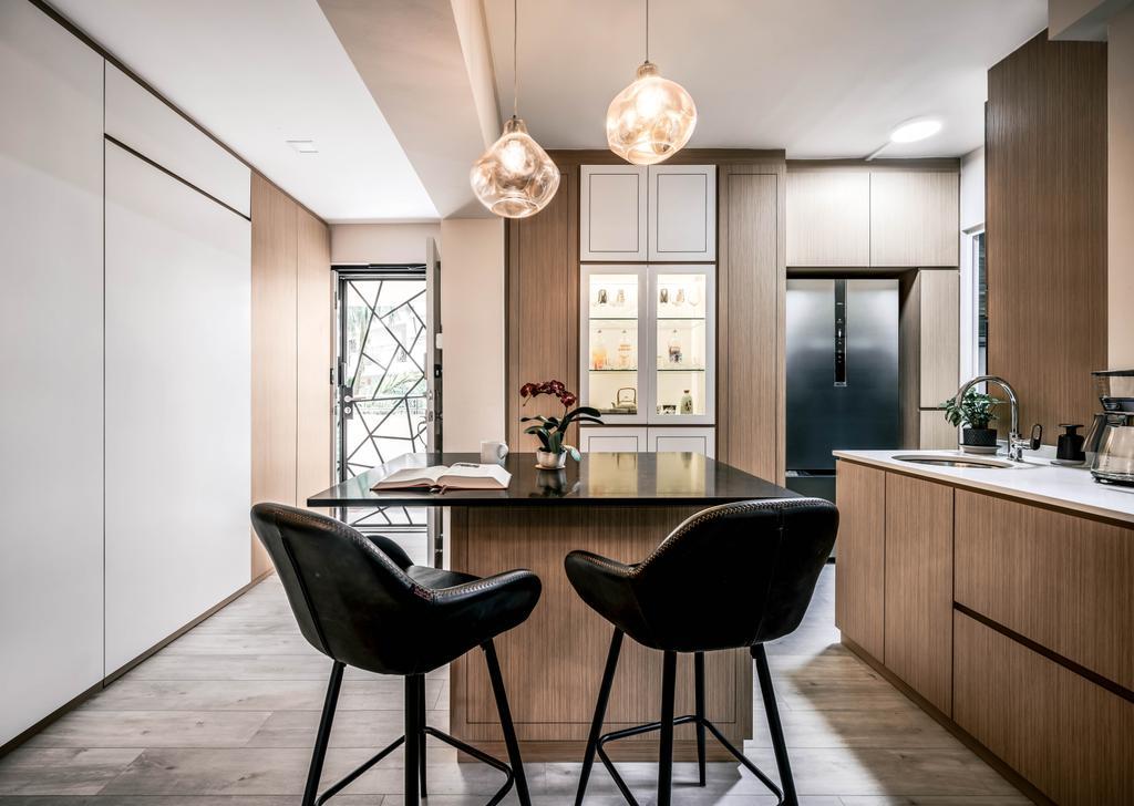 Modern, HDB, Dining Room, Woodlands Drive 6, Interior Designer, Weiken.com, Contemporary