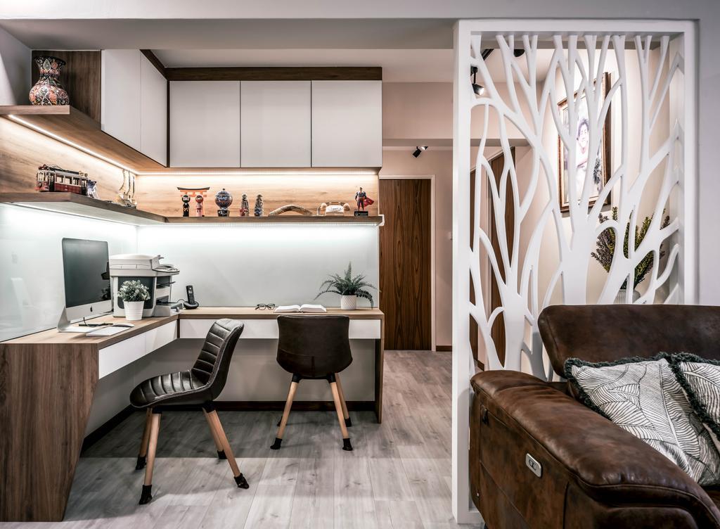 Modern, HDB, Study, Woodlands Drive 6, Interior Designer, Weiken.com, Contemporary