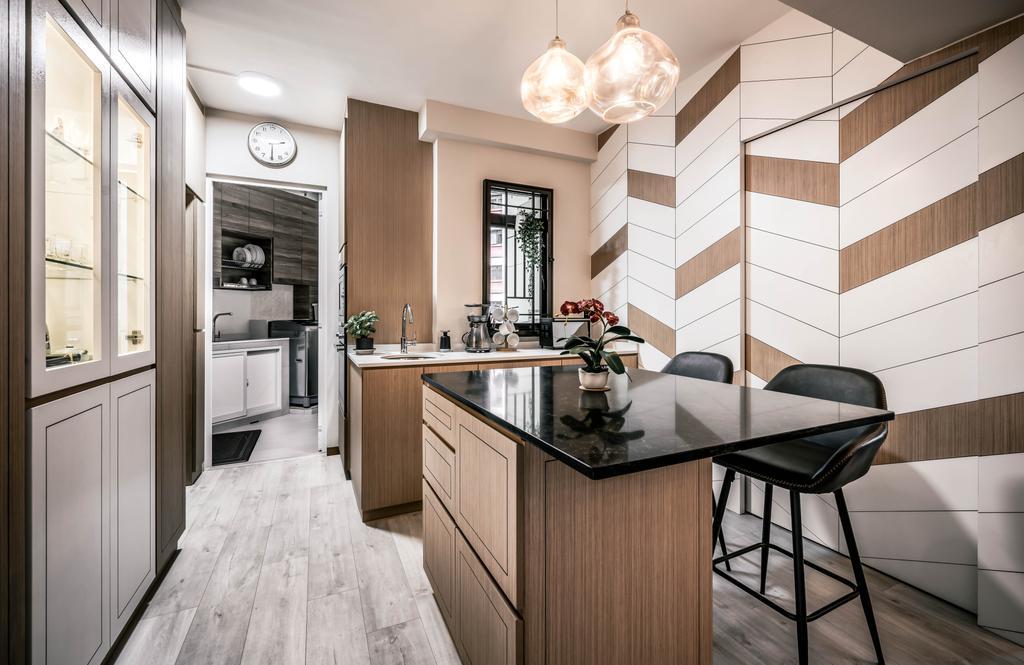 Modern, HDB, Kitchen, Woodlands Drive 6, Interior Designer, Weiken.com, Contemporary