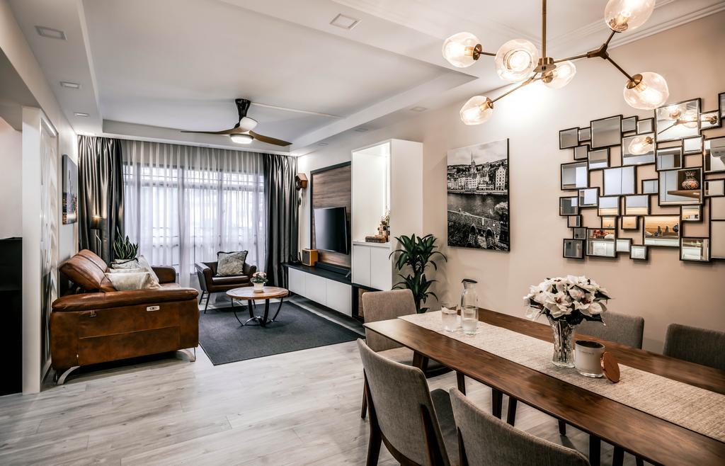 Modern, HDB, Living Room, Woodlands Drive 6, Interior Designer, Weiken.com, Contemporary
