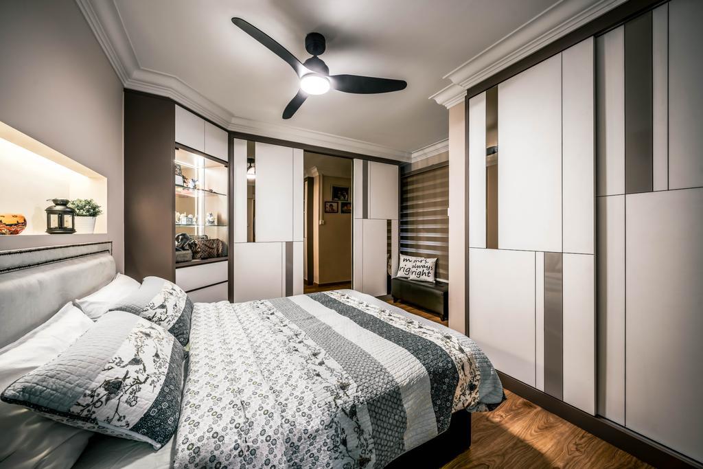 Modern, HDB, Bedroom, Woodlands Drive 6, Interior Designer, Weiken.com, Contemporary