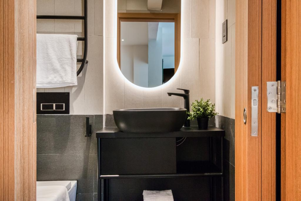 Hmlet @ Cantonment, Commercial, Interior Designer, Hmlet Interiors, Transitional, Retro, Vintage, Bathroom