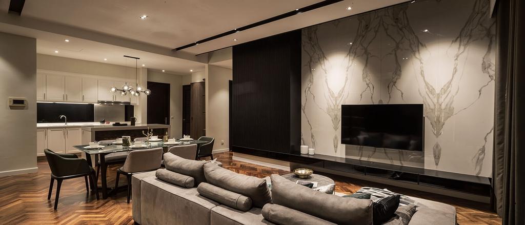 Condo, Living Room, Verde Quayside, Tanjung Tokong, Interior Designer, Vault Design Lab Sdn Bhd
