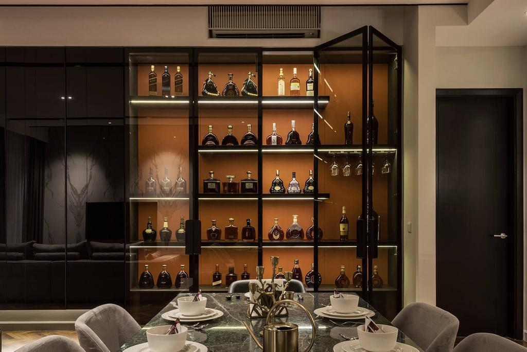 Condo, Dining Room, Verde Quayside, Tanjung Tokong, Interior Designer, Vault Design Lab Sdn Bhd