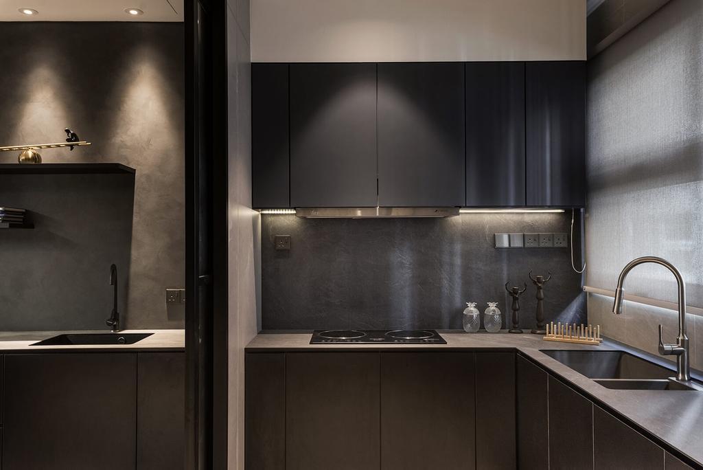 Modern, Landed, Kitchen, Permai Gardens, Tanjung Tokong, Interior Designer, Vault Design Lab Sdn Bhd, Contemporary