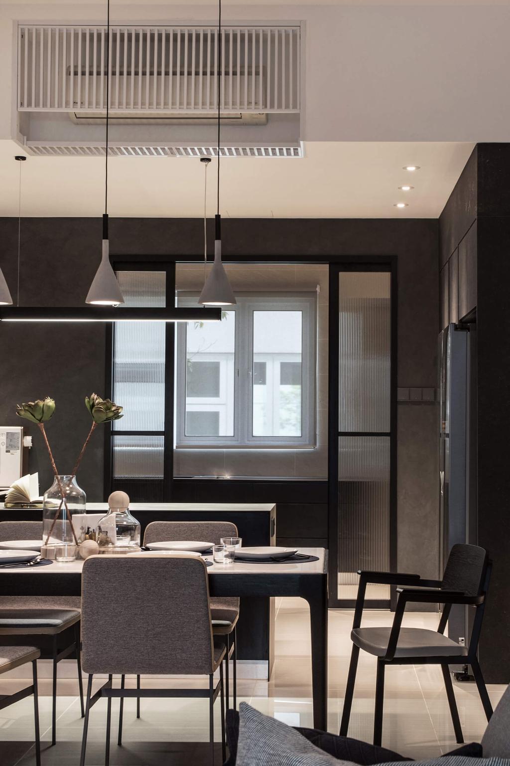 Modern, Landed, Dining Room, Permai Gardens, Tanjung Tokong, Interior Designer, Vault Design Lab Sdn Bhd, Contemporary