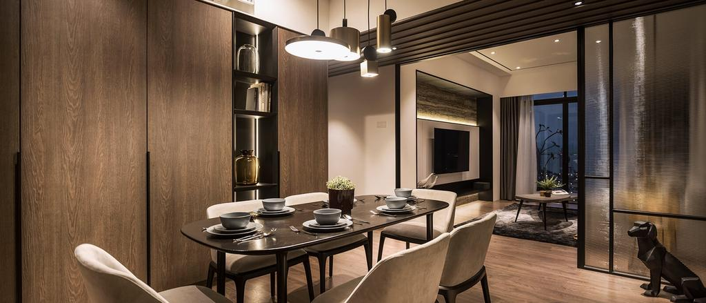 Contemporary, Condo, Dining Room, Journal Mont Residence, George Town, Interior Designer, Vault Design Lab Sdn Bhd