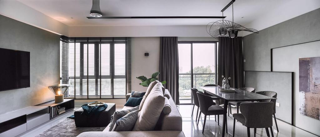 Modern, Landed, Living Room, Raffel Tower, Pulau Pinang, Interior Designer, Vault Design Lab Sdn Bhd, Contemporary