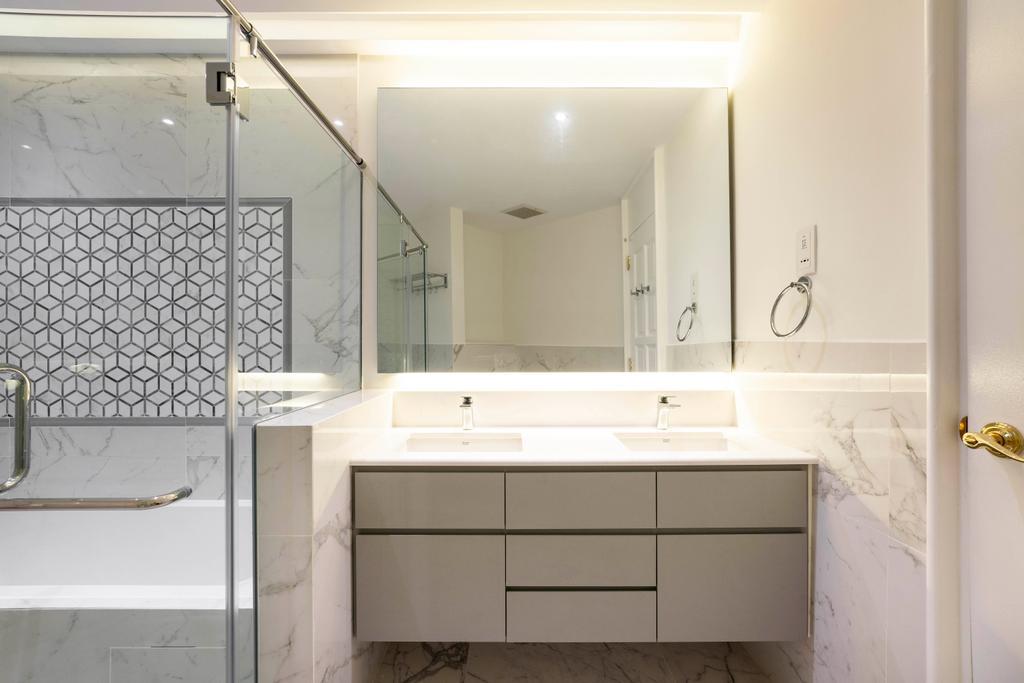 Contemporary, Condo, Bathroom, Pebble Bay, Interior Designer, Livspace