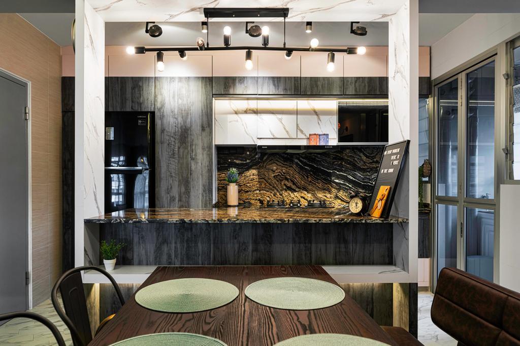 Modern, HDB, Dining Room, Bukit Batok West Avenue 8, Interior Designer, Livspace, Eclectic