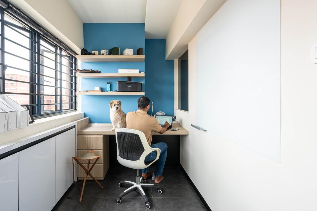 Modern, HDB, Study, Elias Road, Interior Designer, Livspace