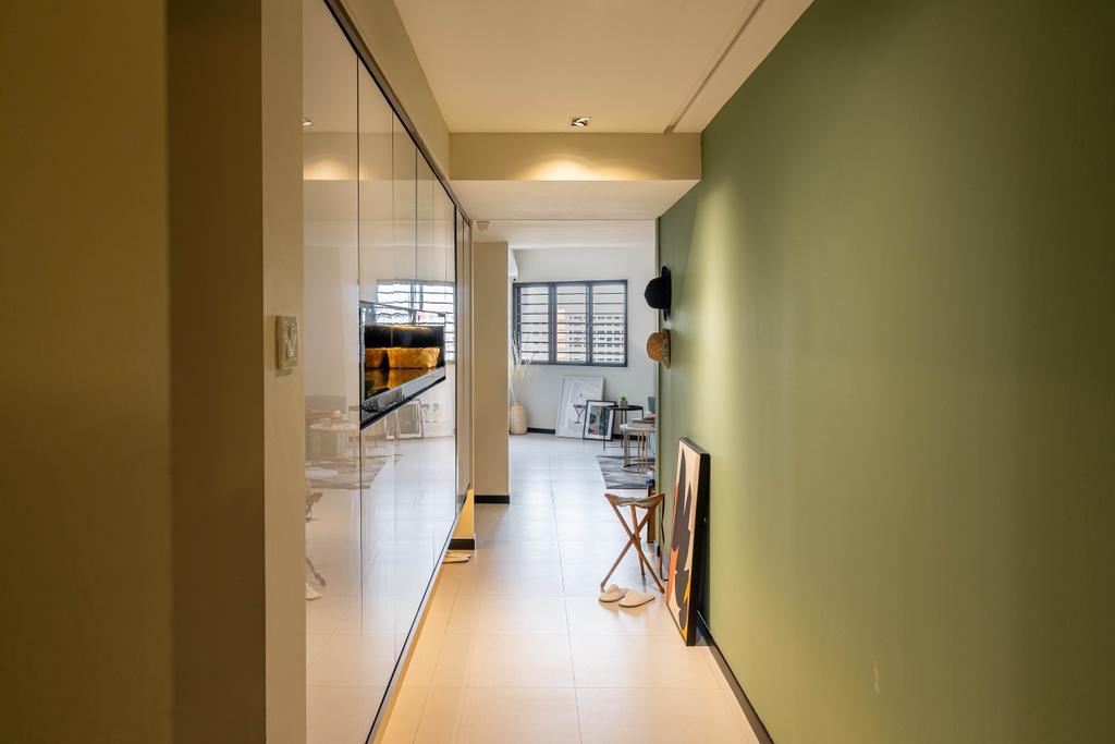 Modern, HDB, Living Room, Elias Road, Interior Designer, Livspace