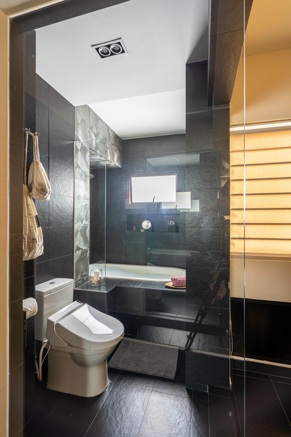 Modern, HDB, Bathroom, Elias Road, Interior Designer, Livspace