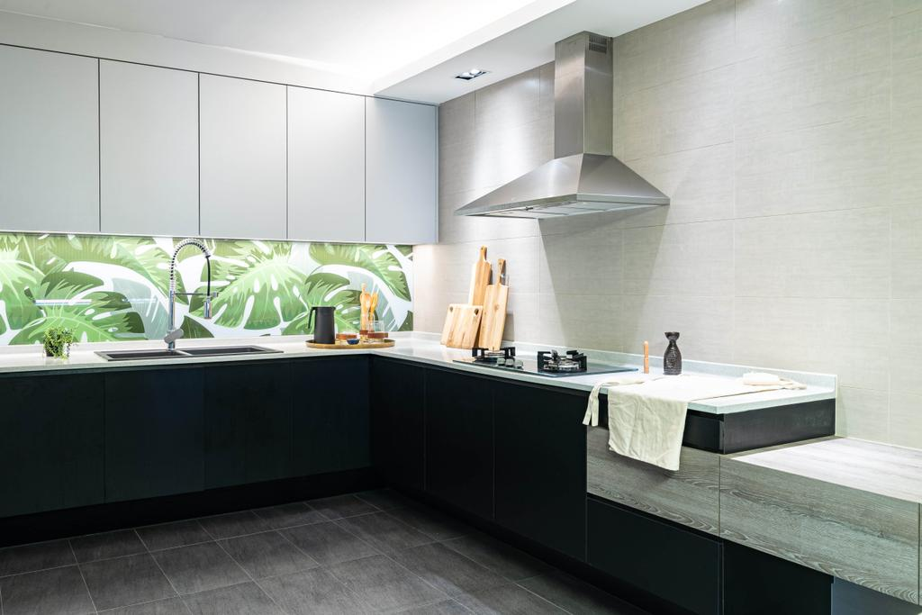 Modern, HDB, Kitchen, Elias Road, Interior Designer, Livspace