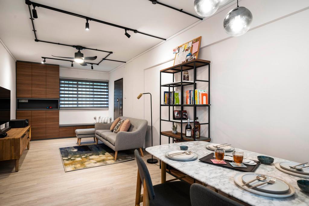 Modern, HDB, Dining Room, Hougang Avenue 1, Interior Designer, Livspace, Scandinavian
