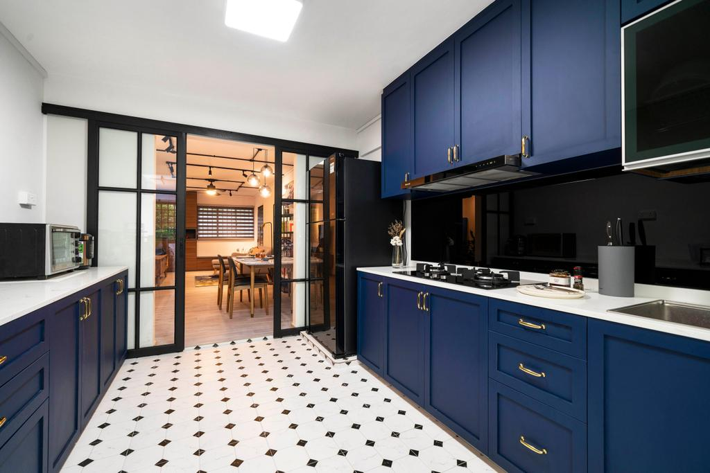Modern, HDB, Kitchen, Hougang Avenue 1, Interior Designer, Livspace, Scandinavian