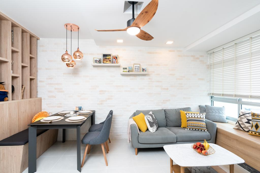 Contemporary, HDB, Living Room, Bendemeer Road, Interior Designer, ChengYi Interior Design, Scandinavian