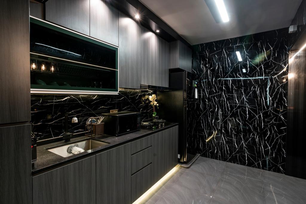 Contemporary, HDB, Kitchen, Rivervale Crescent, Interior Designer, ChengYi Interior Design
