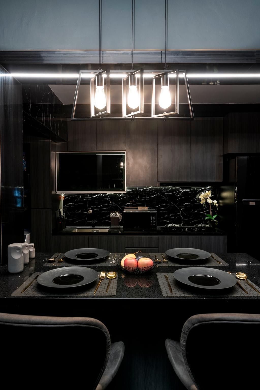Contemporary, HDB, Dining Room, Rivervale Crescent, Interior Designer, ChengYi Interior Design